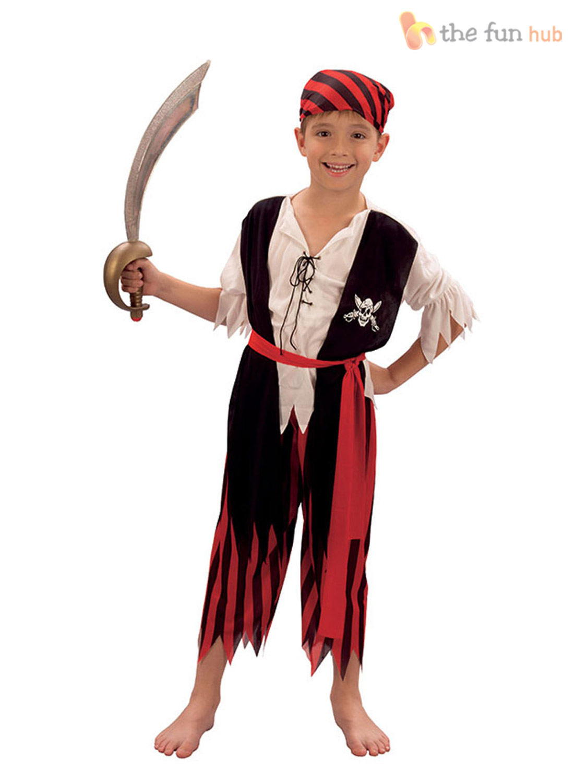 Boys-Pirate-Costume-Kids-Caribbean-Fancy-Dress-Outfit-  sc 1 st  eBay & Boys Pirate Costume Kids Caribbean Fancy Dress Outfit Age 4 5 6 7 8 ...