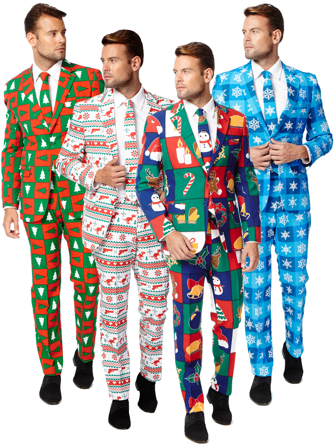 head to the work christmas party or celebrate christmas day in something a little different this christmas with this sexy smart suit - Christmas Suits For Mens