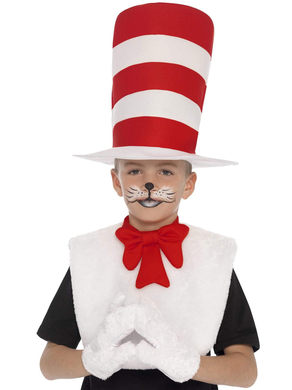 Childs Cat in the Hat Kit Kids Dr Seuss Fancy Dress ...