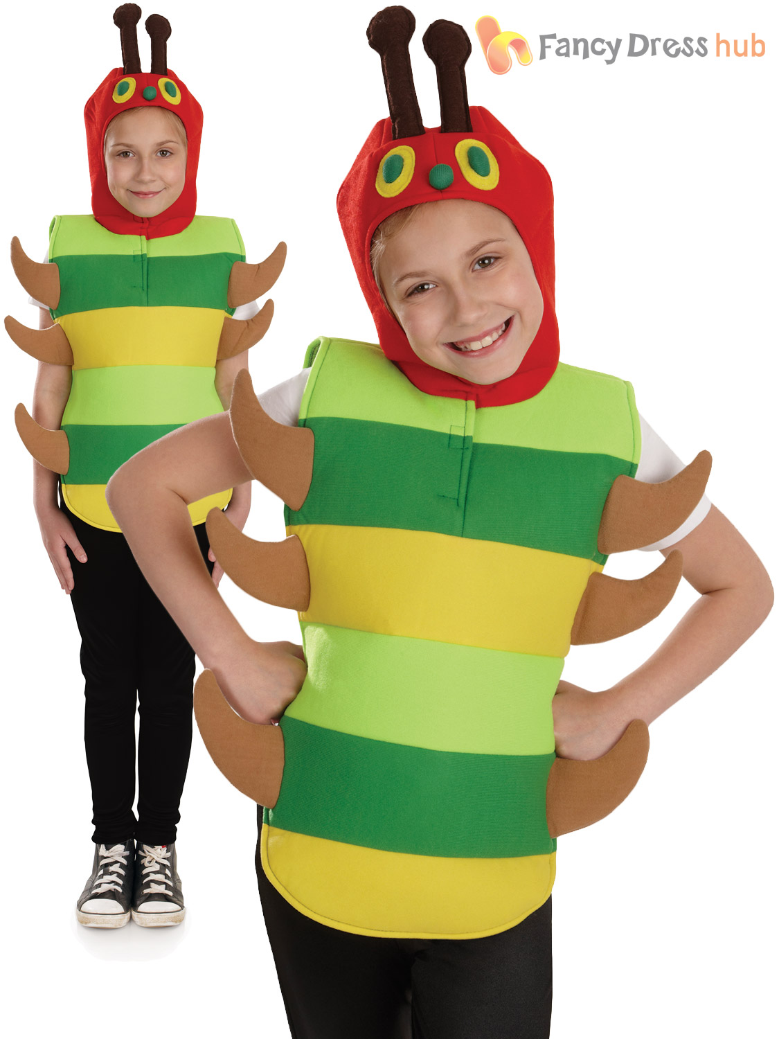 childs very hungry caterpillar fancy dress costume boys girls book