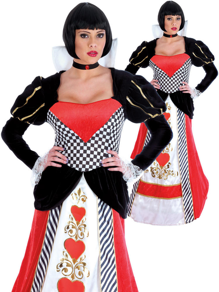 Ladies Queen of Hearts Dress - Medium