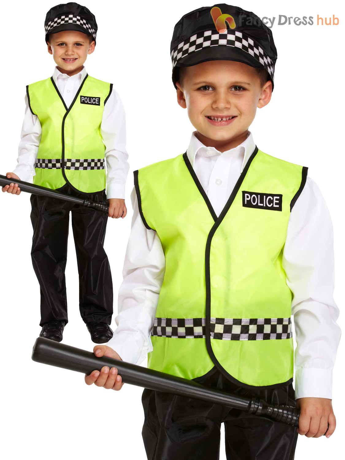 Boys-Policeman-Fancy-Dress-Costume-Child-Police-Constable-  sc 1 st  eBay & Boys Policeman Fancy Dress Costume Child Police Constable Kids ...
