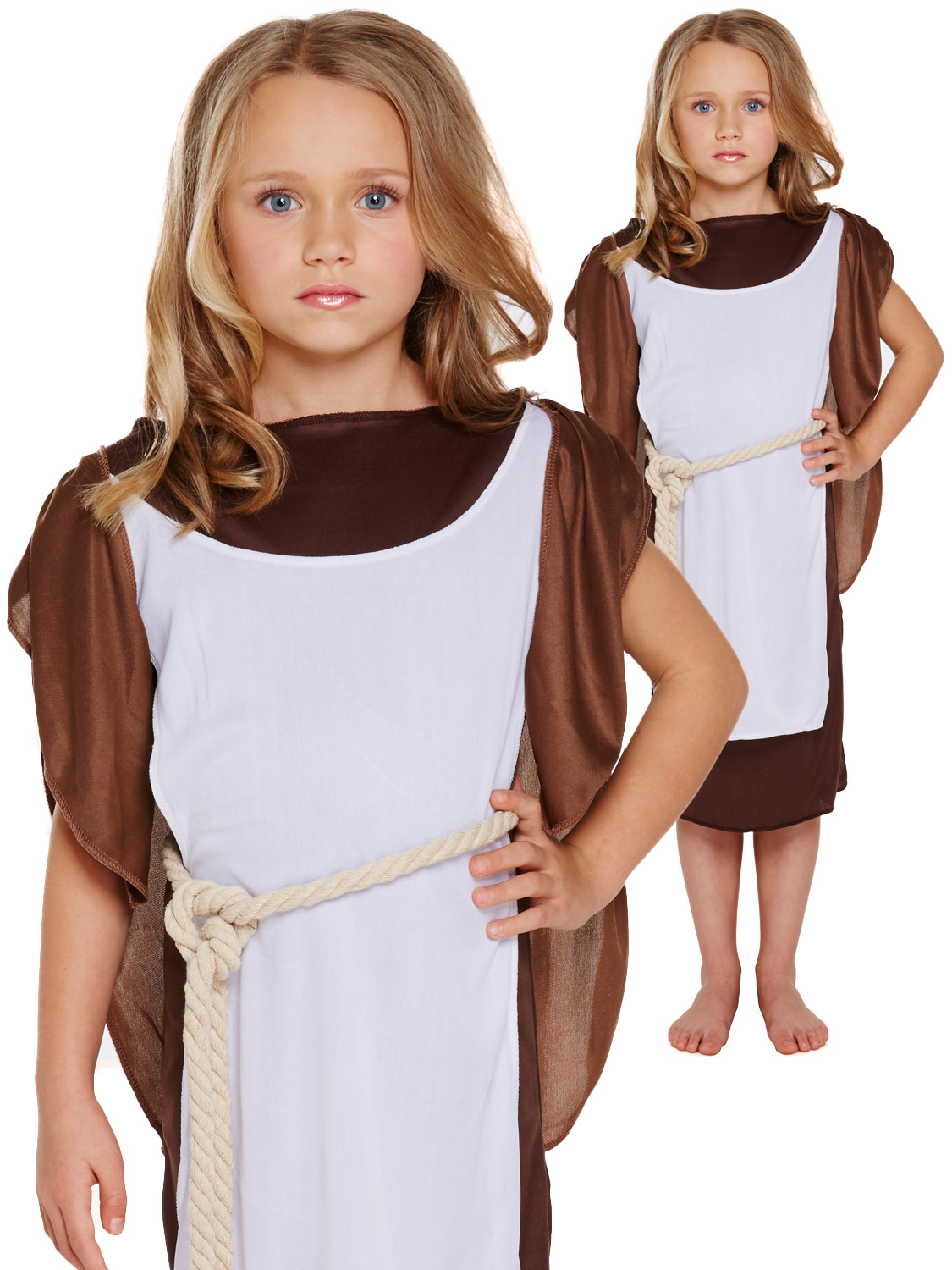 Girls 6 Pc Historical Viking Warrior School Book Week Fancy Dress Costume Outfit