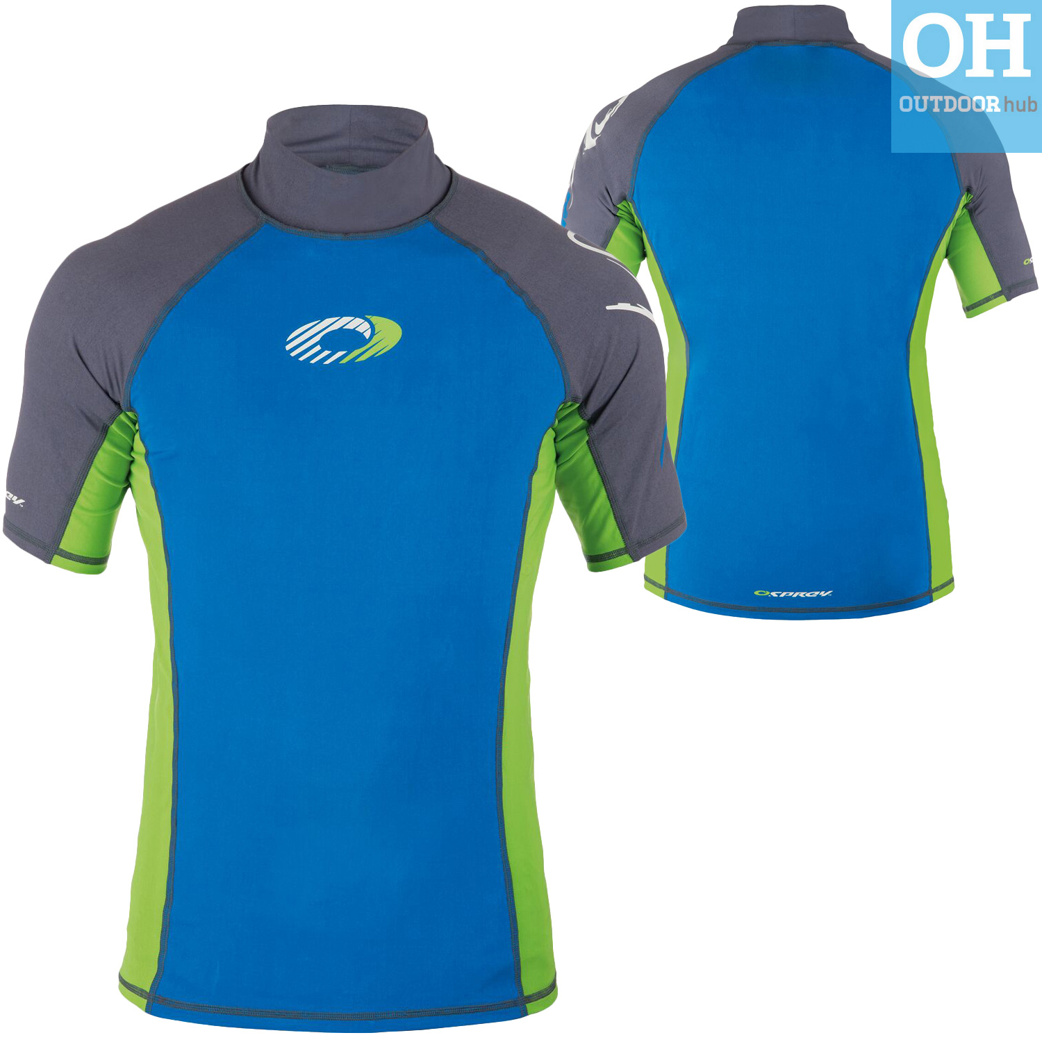 osprey mens short sleeve rash vest surf t shirt uv 50