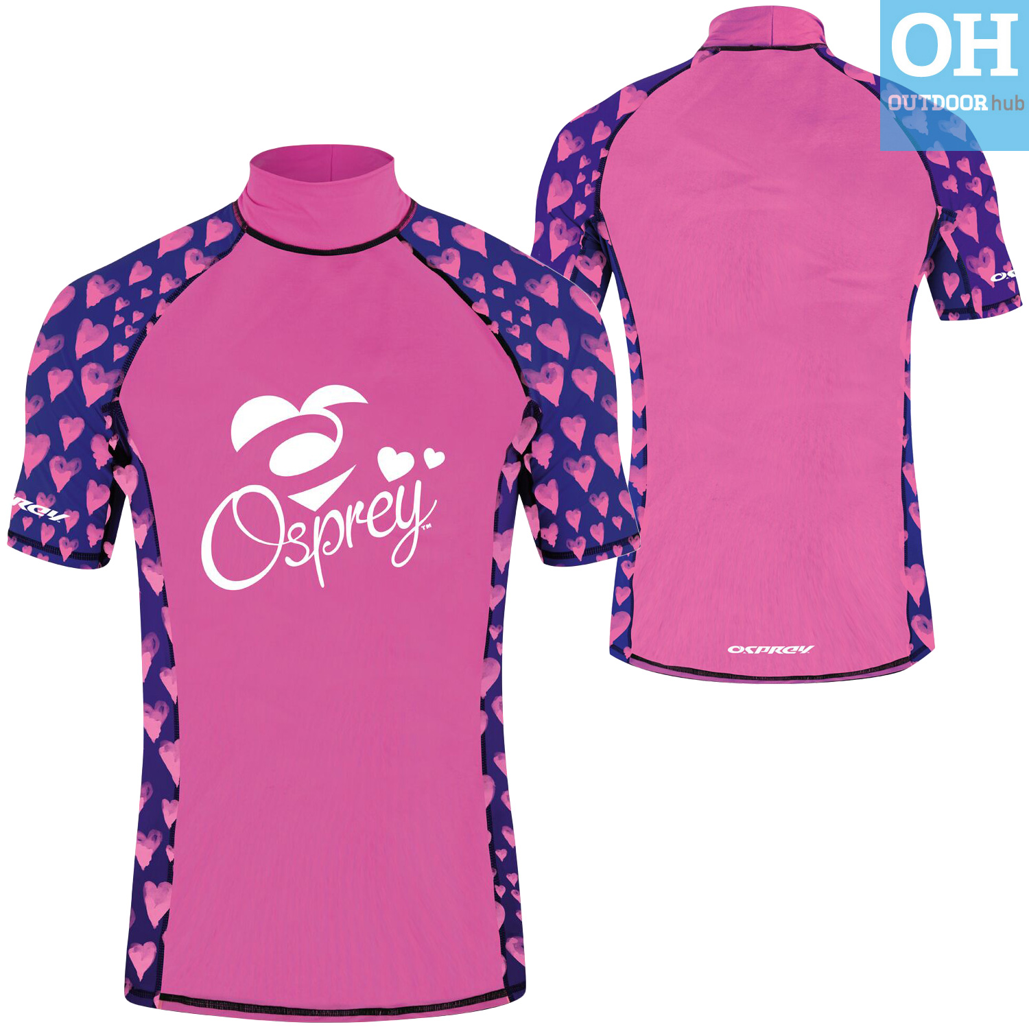 Osprey-Ladies-Short-Sleeve-Rash-Vest-Womens-Surf-T-Shirt-UV-50-Protection-Guard thumbnail 19