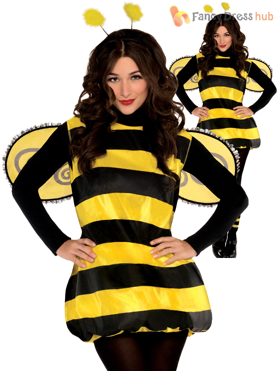 Ladies-Darling-Lady-Bird-Bumble-Bee-Costume-Adults-  sc 1 st  eBay & Ladies Darling Lady Bird Bumble Bee Costume Adults Bug Fancy Dress ...