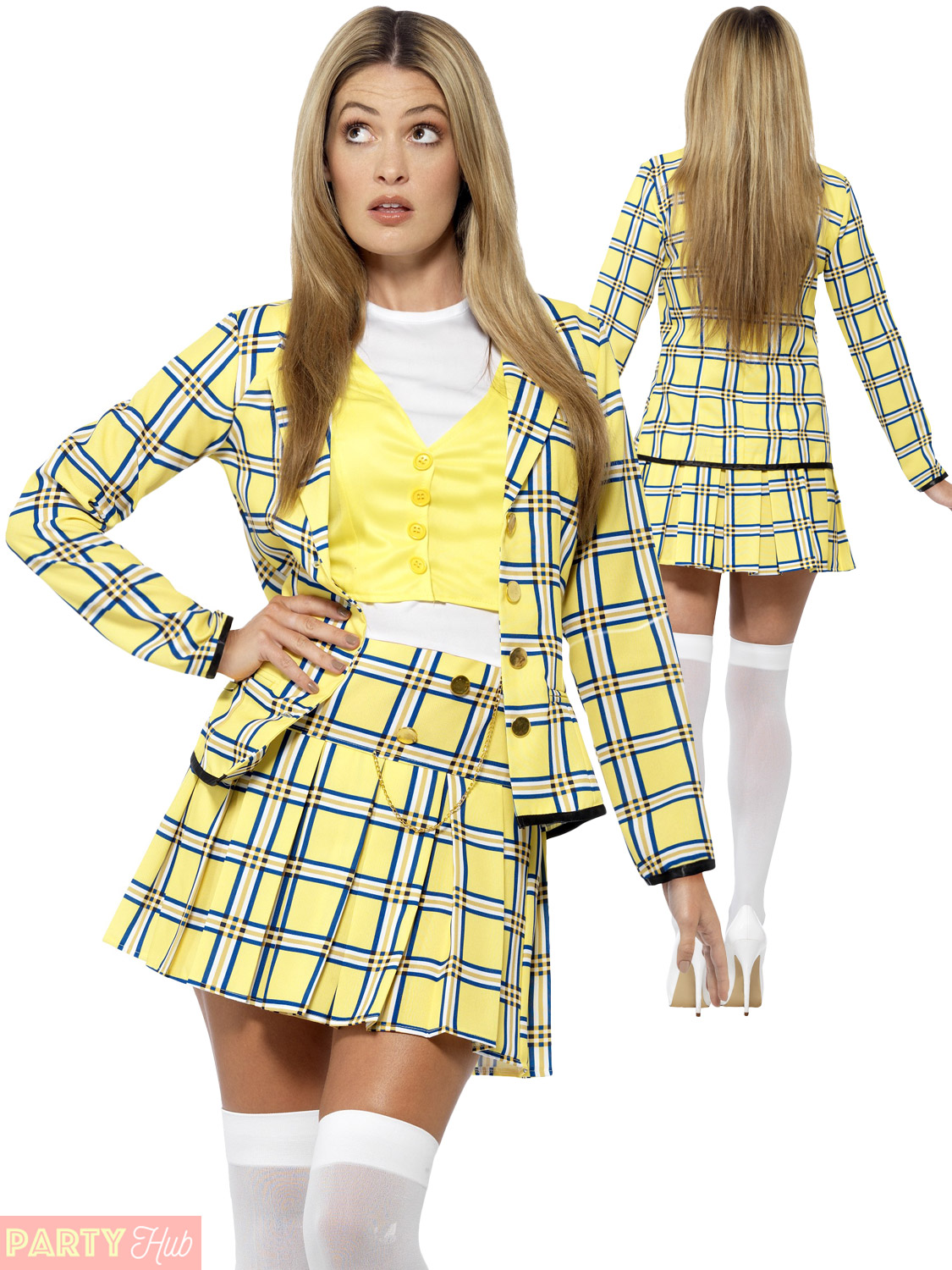 Adults Clueless Costume Ladies Cher Dionne Fancy Dress 90s ...