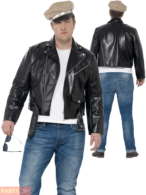Mens 50s Rebel Costume Adults Biker Mod Fancy Dress 1950s ...