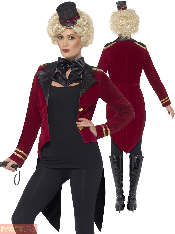 Adult-Ringmaster-Costume-Ladies-Ringmistress-Fancy-Dress-Women-  sc 1 st  eBay & Adult Ringmaster Costume Ladies Ringmistress Fancy Dress Women Lion ...