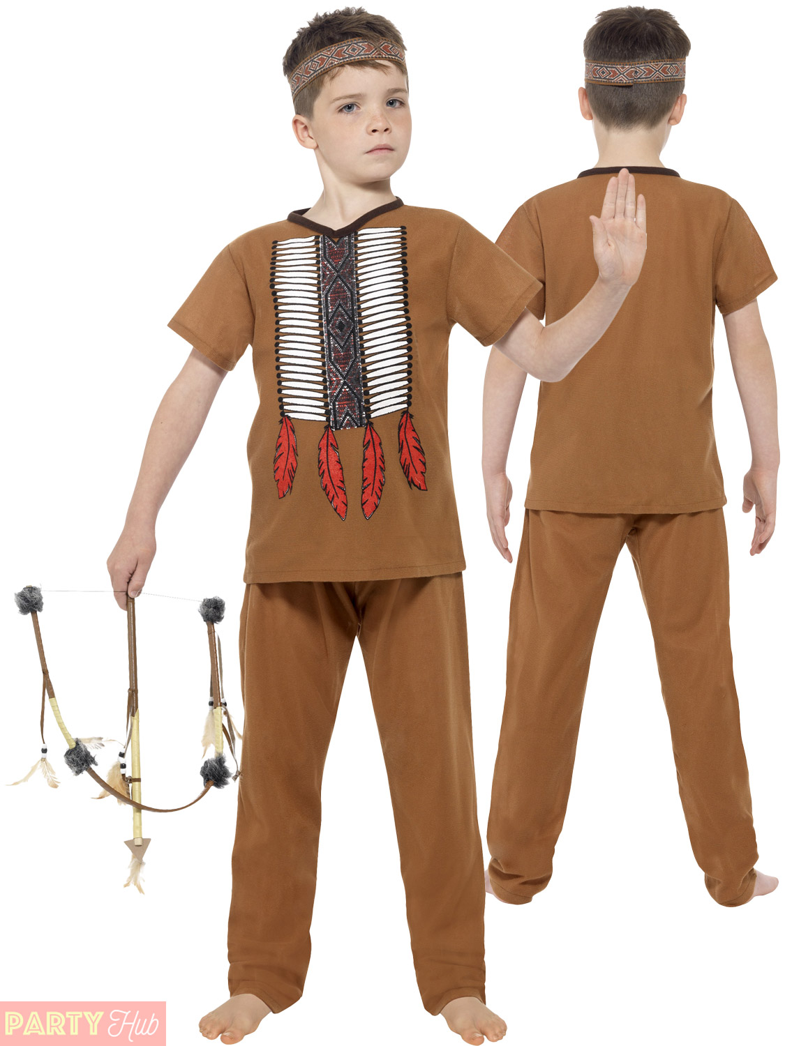... Picture 2 of 4 ...  sc 1 st  eBay & Boys Native American Inspired Warrior Childs Smiffys Fancy Dress ...