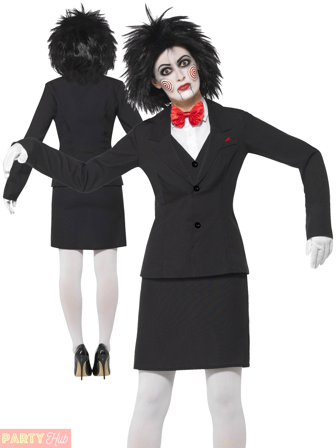 ladies saw costume adult halloween jigsaw fancy dress womens horror