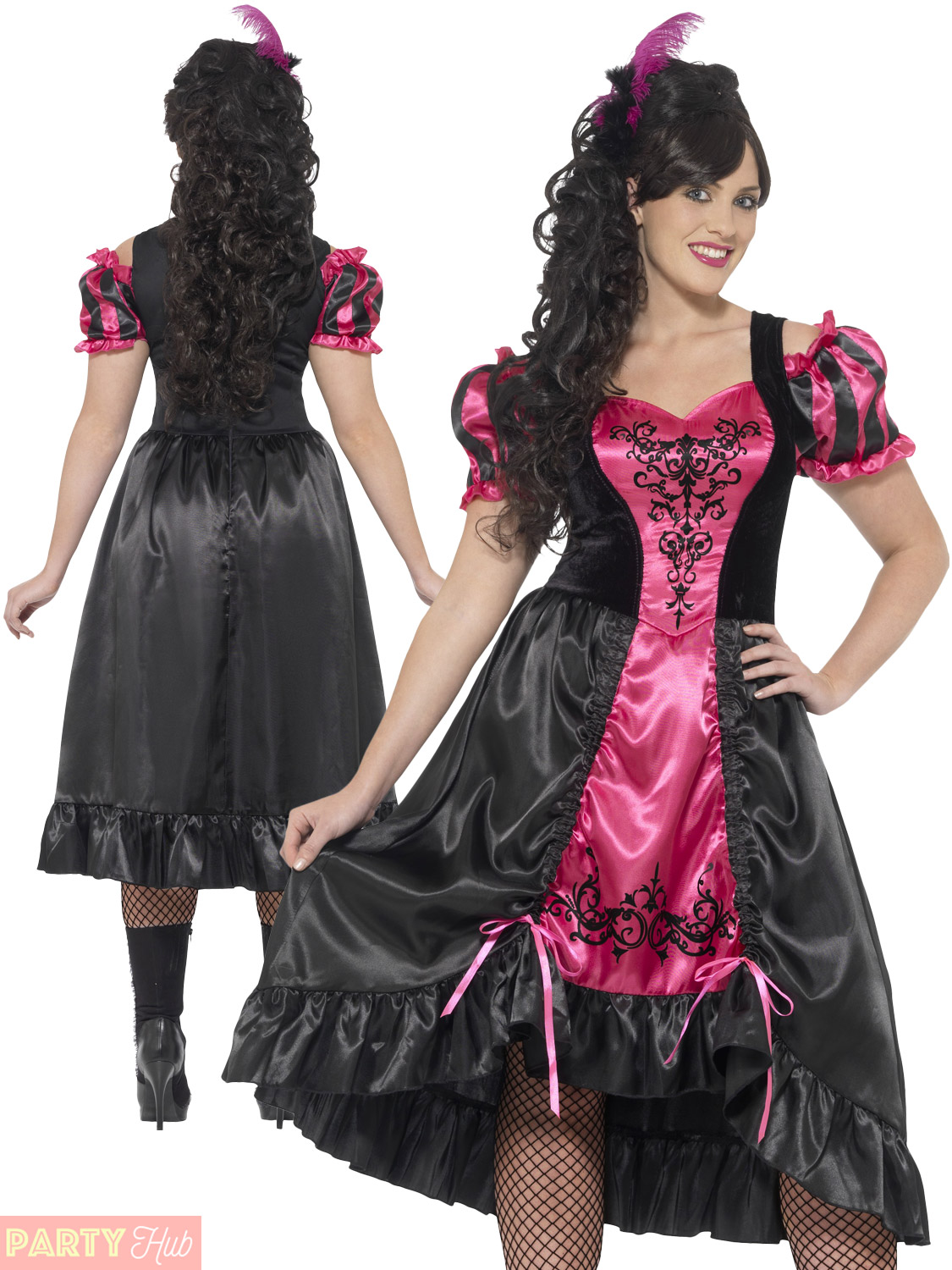 Mens Ladies Wild West Costume Sheriff Saloon Girl Plus Size Fancy