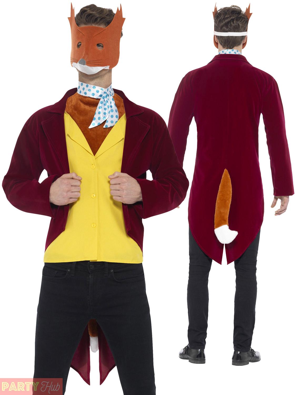 Mens Willy Wonka Fantastic Mr Fox Costume Roald