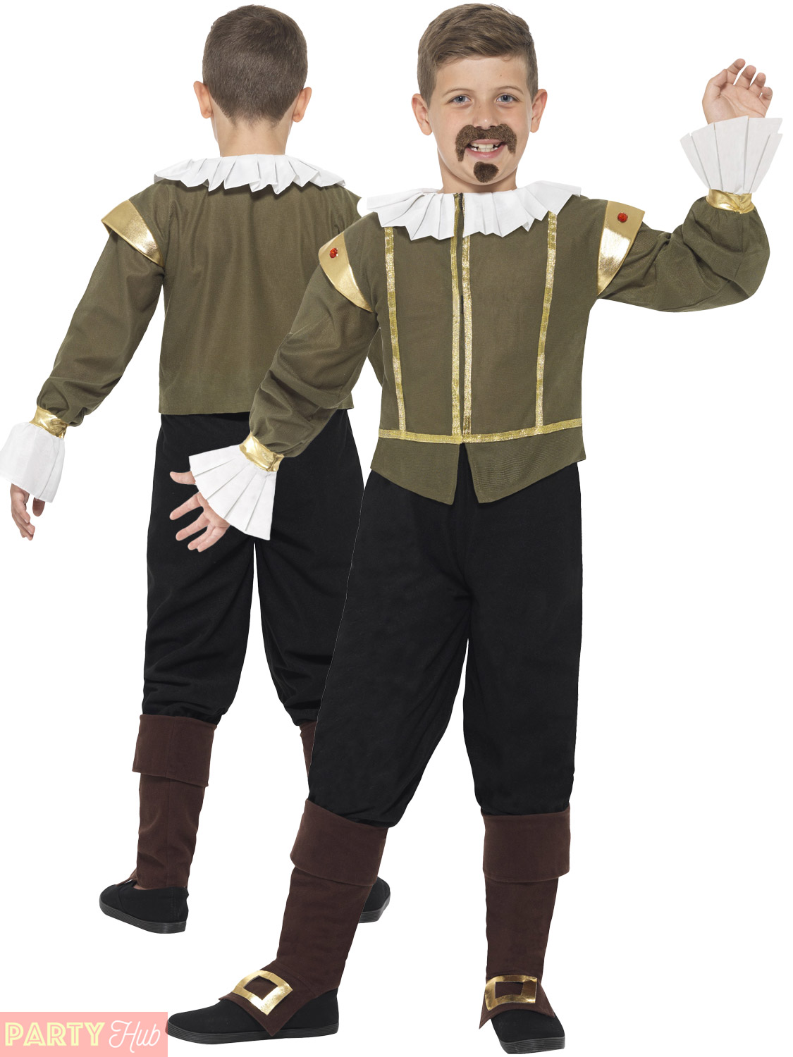 Toddler Fancy Dress Medieval Costume Book Week Boys Outfit