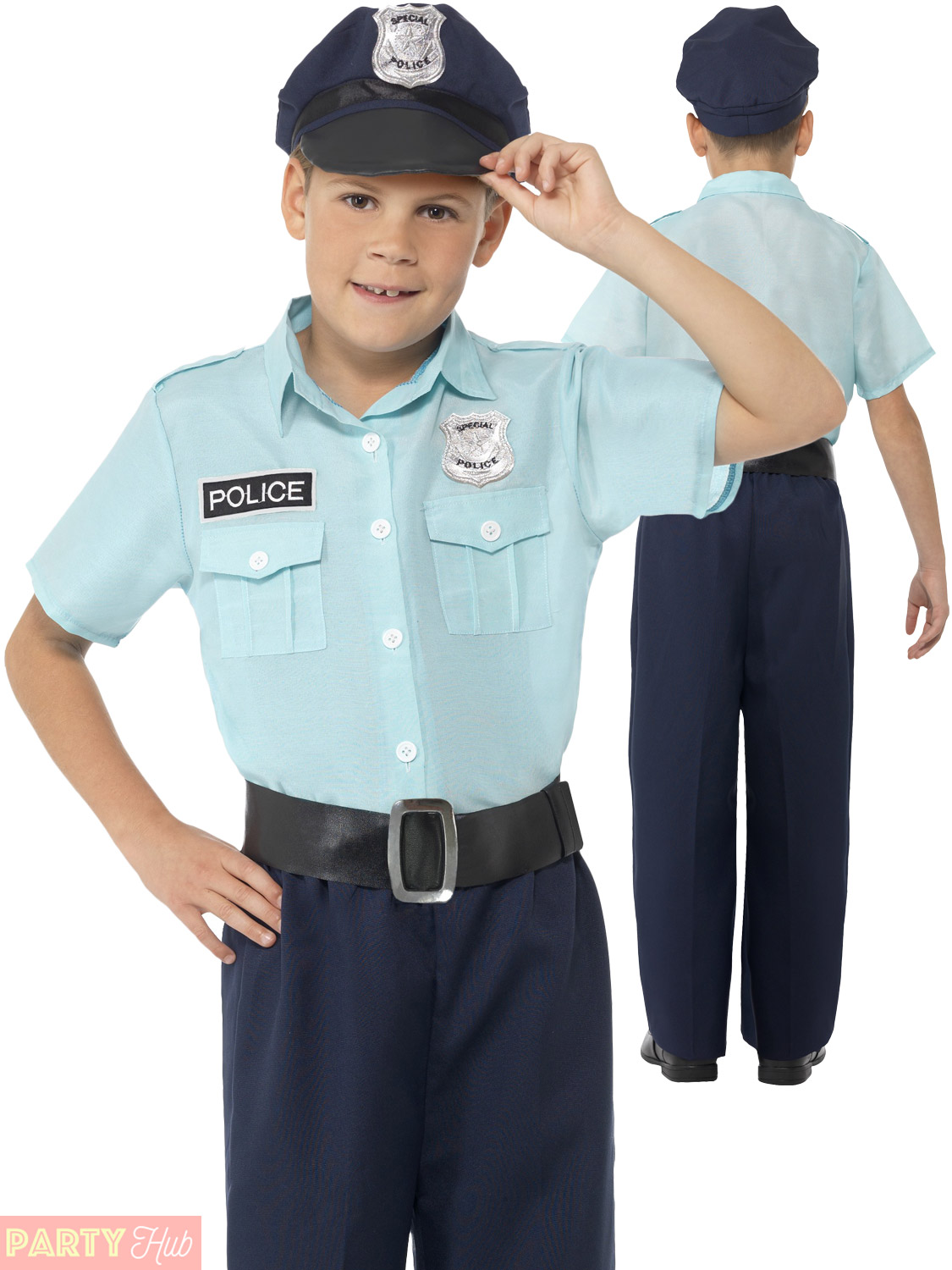 ... Picture 2 of 4 ...  sc 1 st  eBay & Boys American Police Officer Costume Cop Policeman Fancy Dress ...