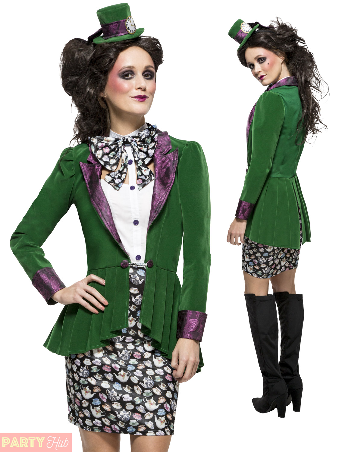 Ladies Mad Hatter Costume Adult Book Week Day Fancy Dress Womens Teacher  Outfit 2f8805225704