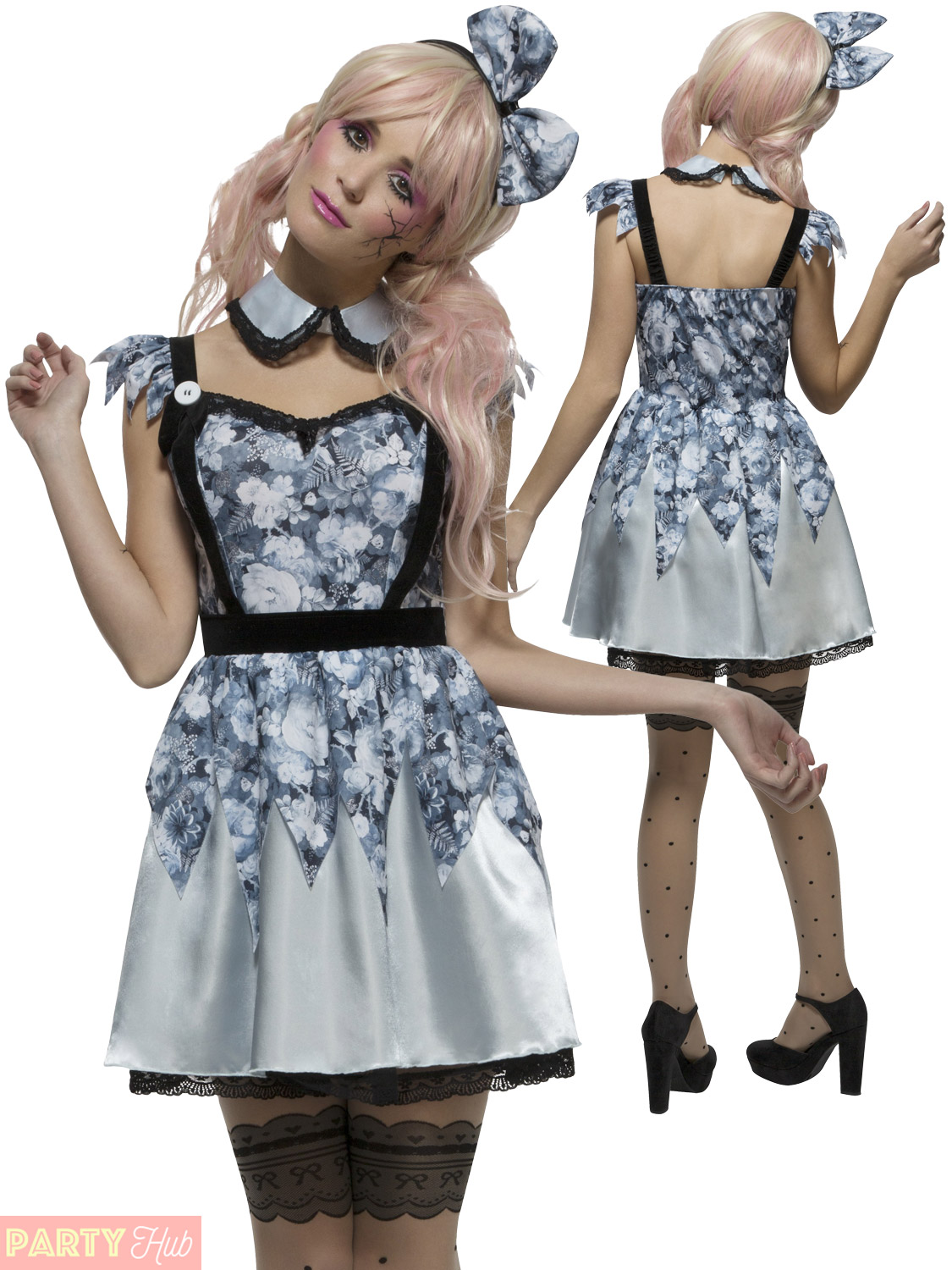 ladies broken doll costume womens zombie damaged doll