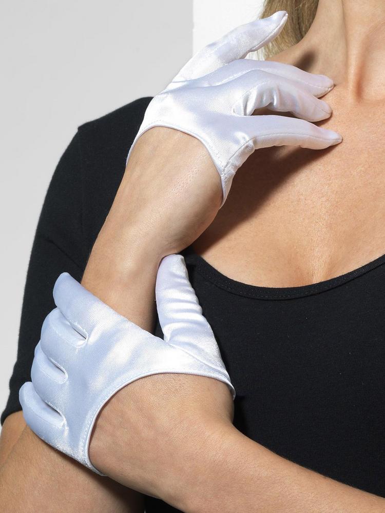 White Half Palm Gloves