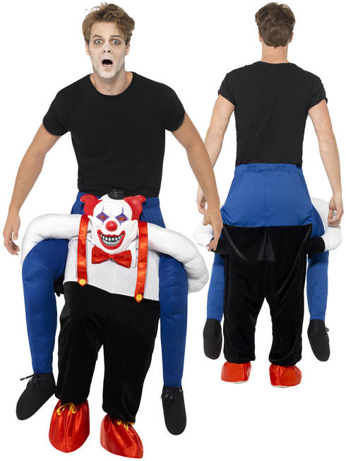 Adult's Piggy Back Clown Costume