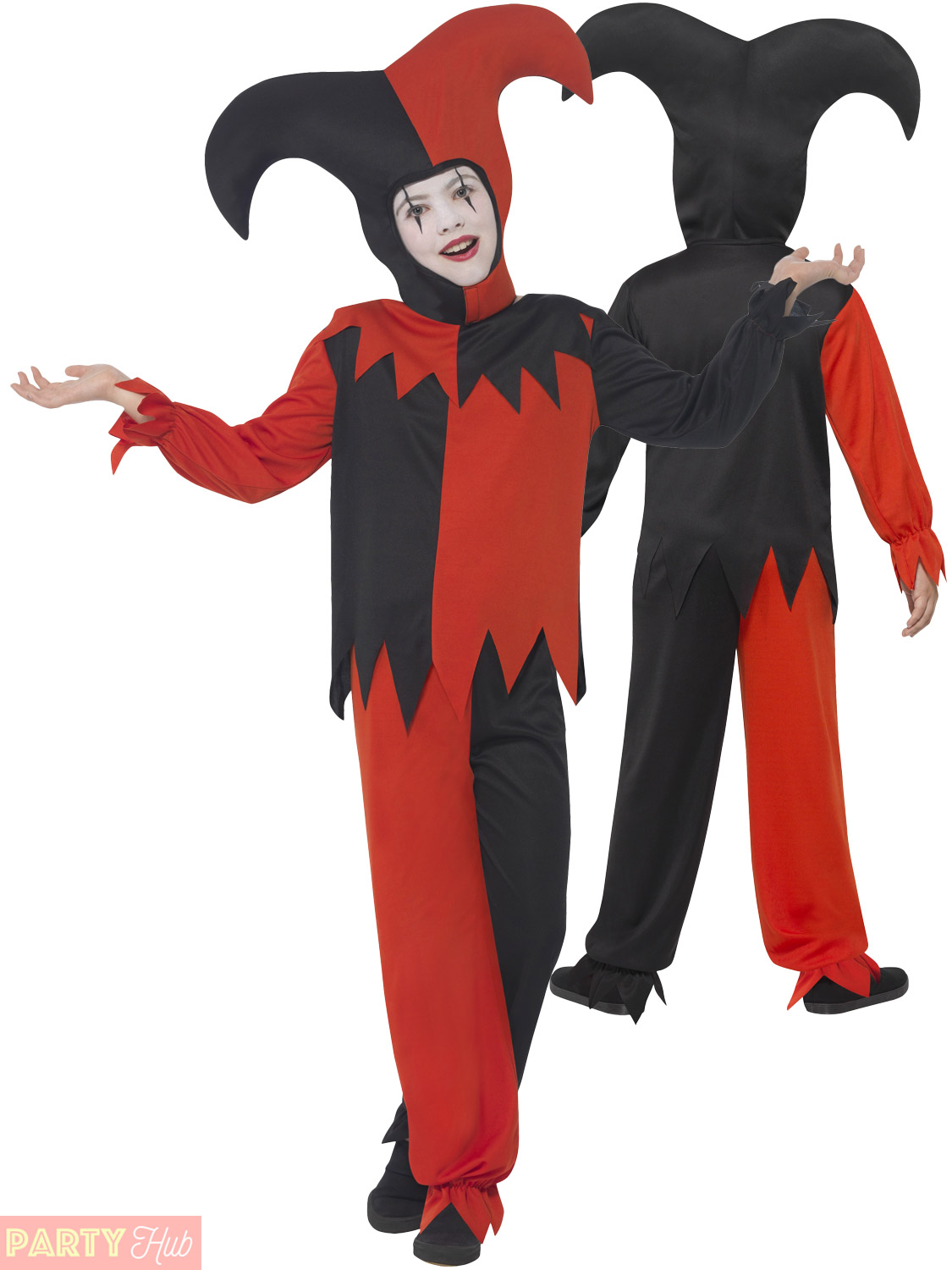 Boys-Twisted-Evil-Jester-Costume-Scary-Clown-Fancy-  sc 1 st  eBay & Boys Twisted Evil Jester Costume Scary Clown Fancy Dress Kids ...