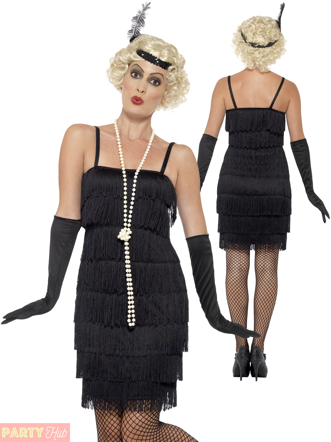 Ladies 1920s Flapper Costume Adults Gatsby Fancy Dress