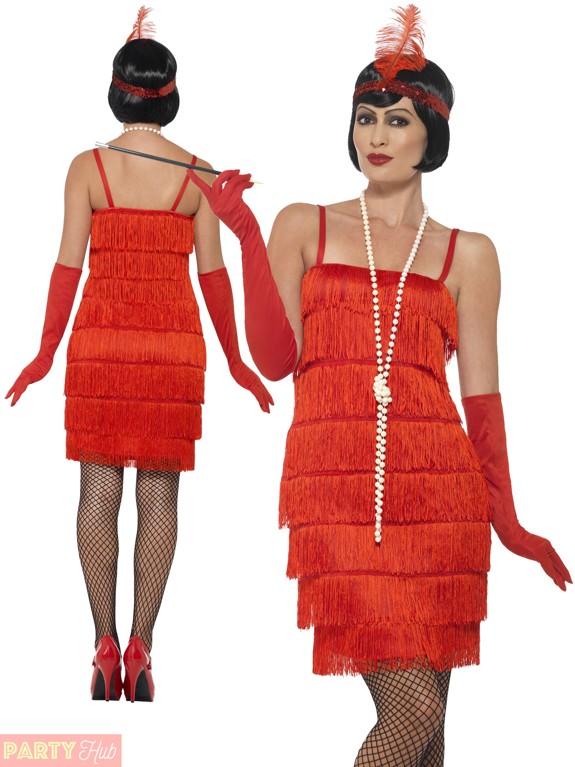 c536d6c1211 Ladies 1920s Flapper Costume Adults Gatsby Fancy Dress Womens ...