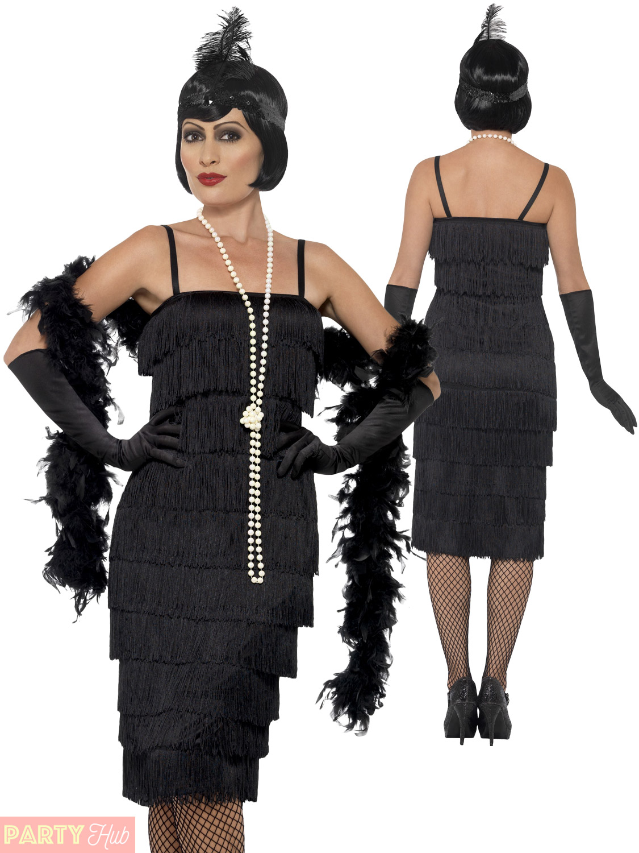 Ladies 1920s Flapper Costume Adults Gatsby Fancy Dress ...