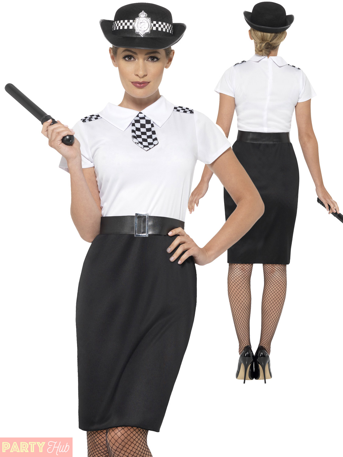 5603356669bba Ladies Police Lady Officer Costume Women Cop Fancy Dress Outfit ...
