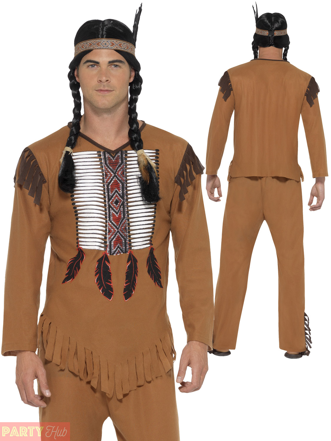 96ac7129701 Smiffys Men's Native Western Warrior Indian Costume Large