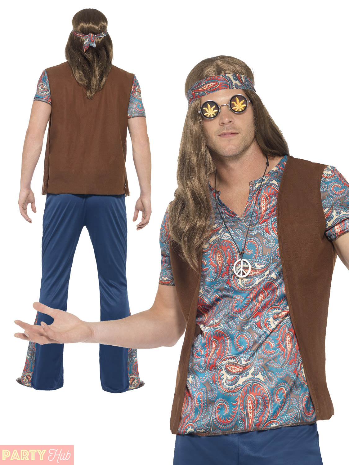 Adults-Orion-The-Hippie-Costume-Mens-1960s-1970s-  sc 1 st  eBay & Adults Orion The Hippie Costume Mens 1960s 1970s Hippy Fancy Dress ...