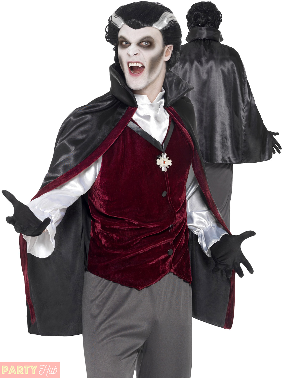 mens vampire costume count dracula gothic halloween fancy
