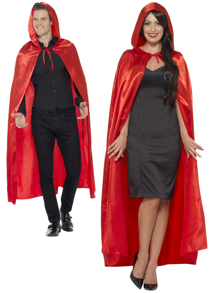 Ladies Red Hooded Cape