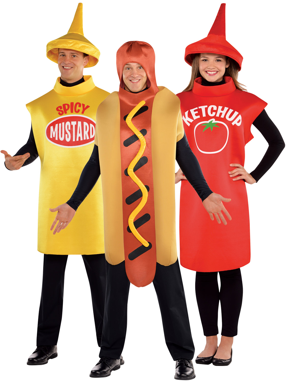 Adults American Food Costume Hot Dog Sauce Fancy Dress Mens Ladies Outfit. Image 2  sc 1 st  eBay & Adults American Food Costume Hot Dog Sauce Fancy Dress Mens Ladies ...