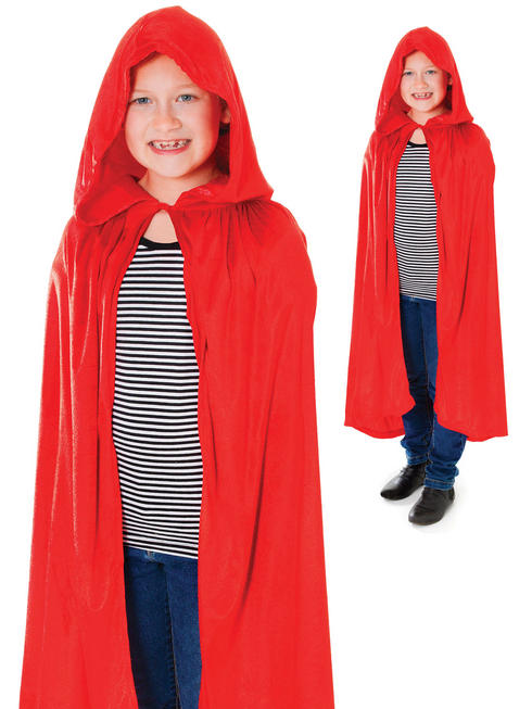 Child's Red Hooded Cape