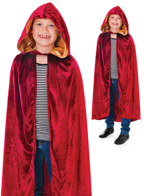Child's Burgundy Hooded Cape