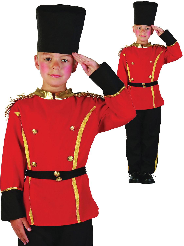 Childrens British Queens Guardia Costume Ragazzi Soldato Costume Bambino M