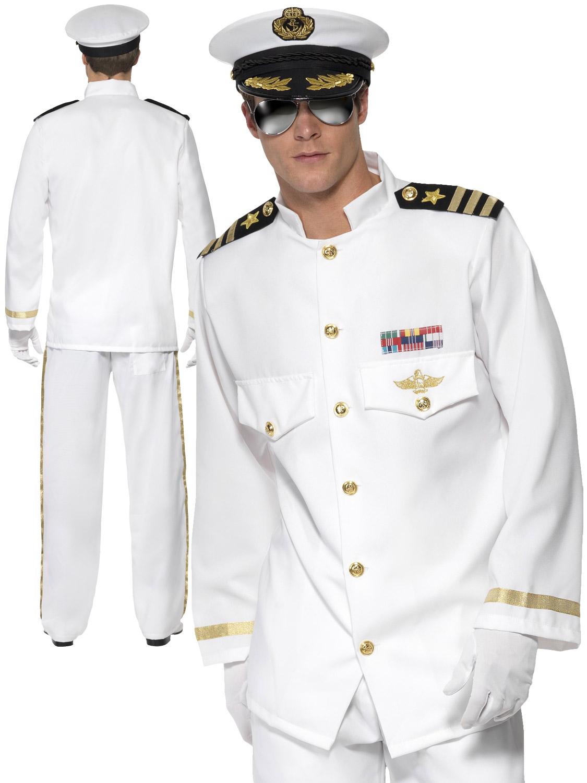Boy/'s Captain Officer /& Gentleman Fancy Dress Costume Navy Kids Party Book Week