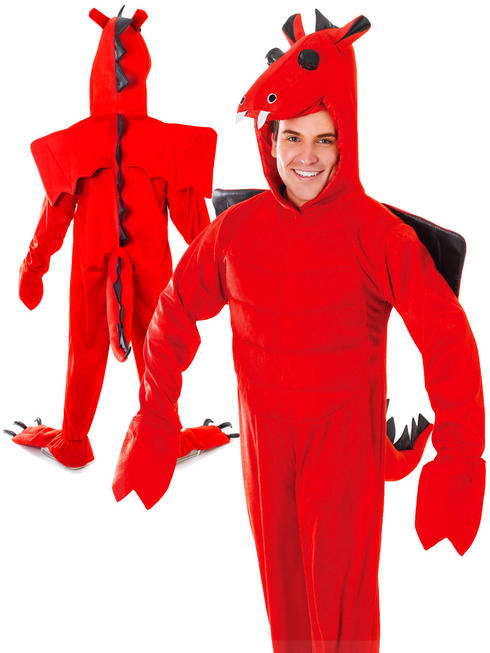 Adults Red Dragon Costume