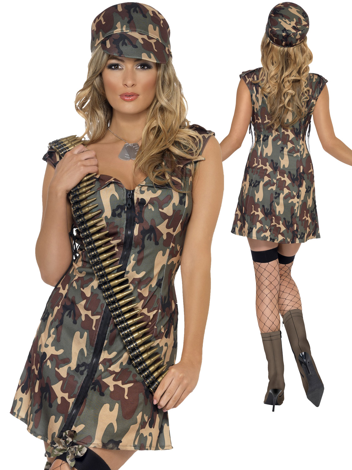 Ladies Fever Army Girl Costume All Ladies Fancy Dress Hub