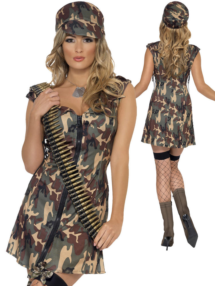 Ladies Fever Army Girl Costume
