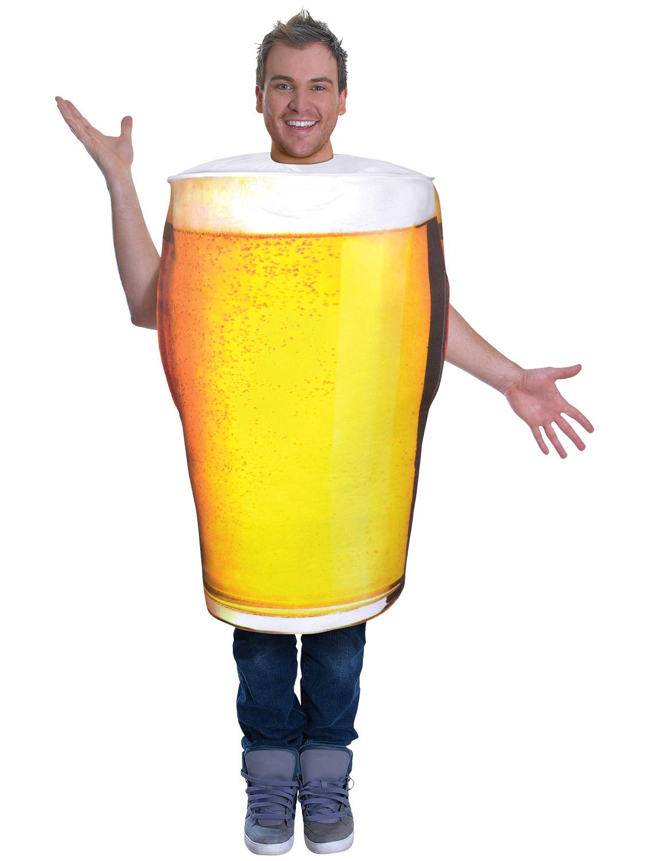 pint of beer costume mens ladies alcohol fancy dress bucks lager