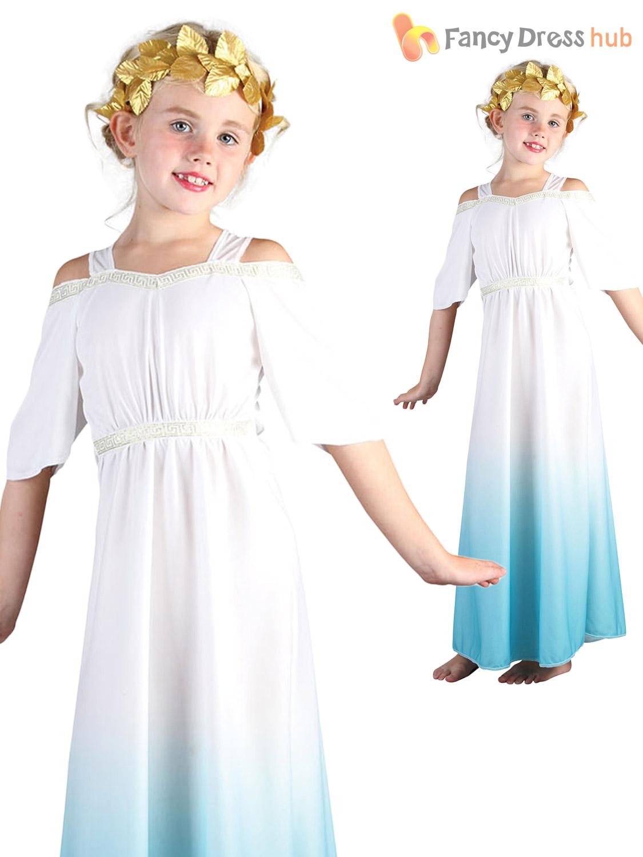 Age 4 11 girls greek goddess costume roman toga outfit child kids age 4 11 girls greek goddess costume roman solutioingenieria Image collections