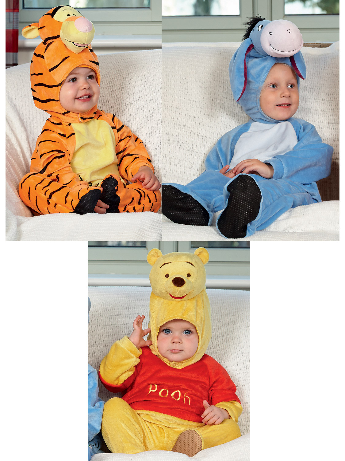f28a6e5e0a72 Details about Baby Disney Winnie the Pooh Romper Toddler Eeyore Fancy Dress  Tigger Costume Kid