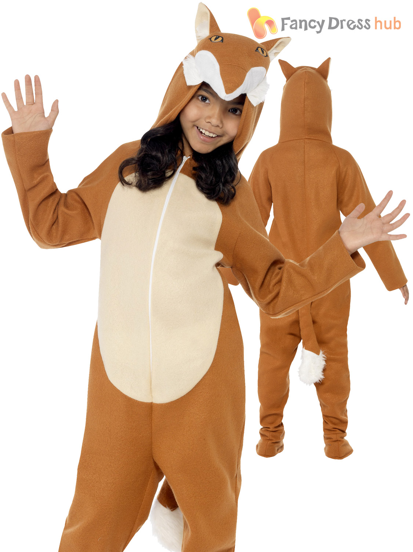 Childs-Fox-Costume-Kids-Animal-Fancy-Dress-Boy-  sc 1 st  eBay & Childs Fox Costume Kids Animal Fancy Dress Boy Girl Fantastic Mr ...