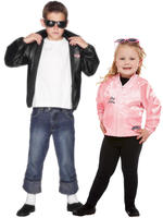 BOYS T-BIRDS JACKET GIRLS GREASE PINK JACKET