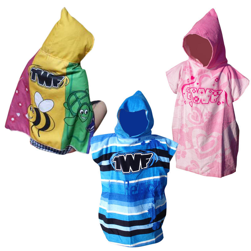 TWF Kids Blue Poncho Towel