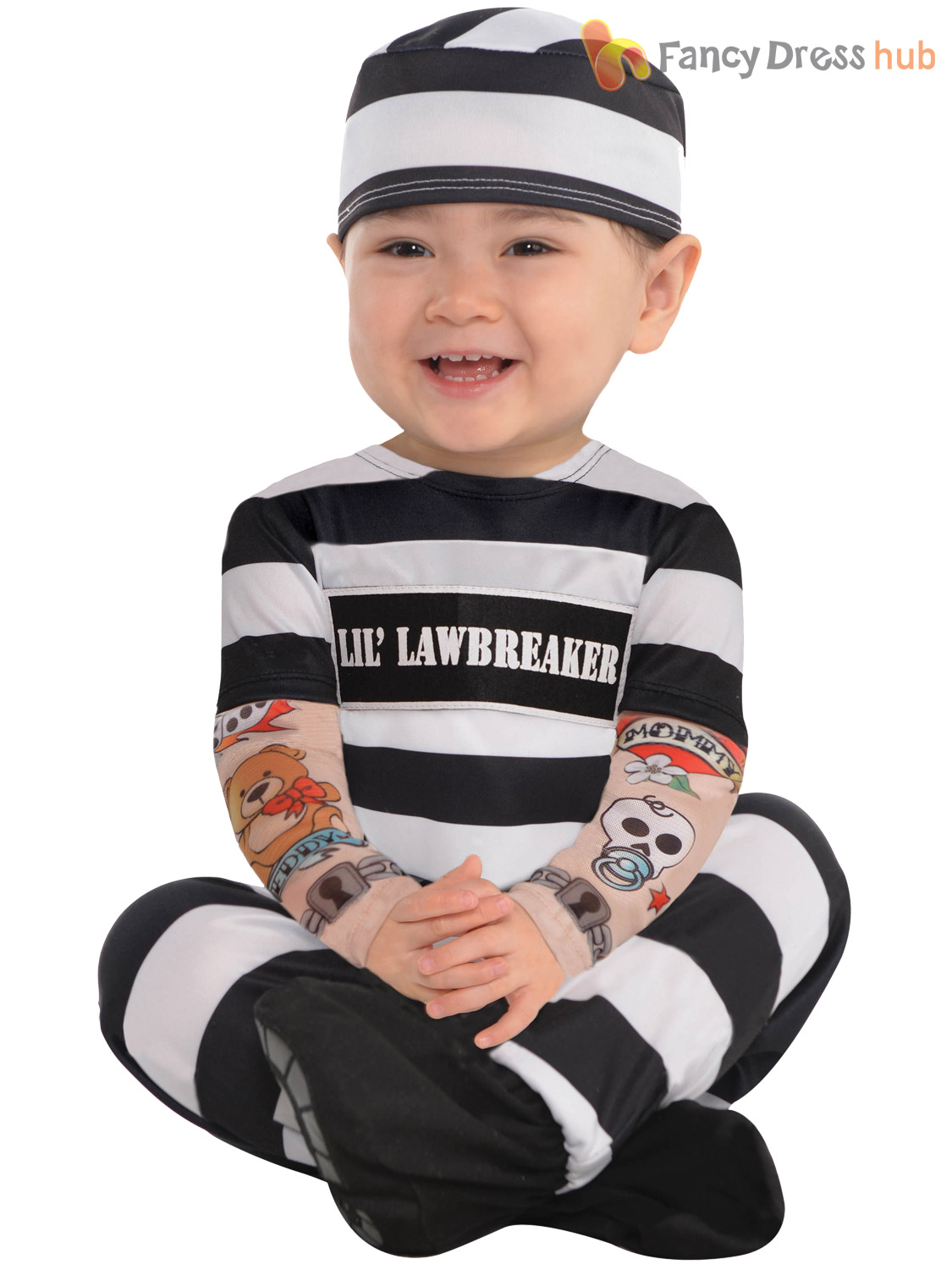 Baby-Toddler-Halloween-Fancy-Dress-Prisoner-Costume-Boy-  sc 1 st  eBay & Baby Toddler Halloween Fancy Dress Prisoner Costume Boy Infant ...