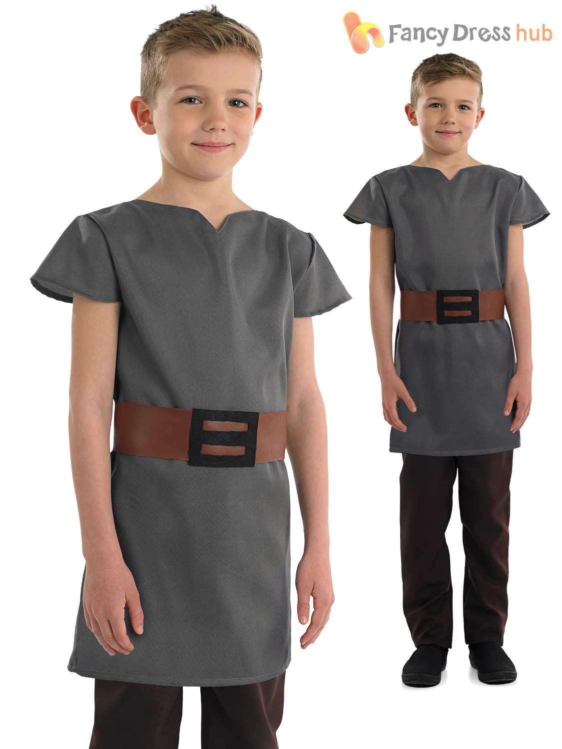 Boys-Anglo-Saxon-Costume-Childs-Book-Week-Fancy-Dress-Historical-Outfit-Tunic thumbnail 3
