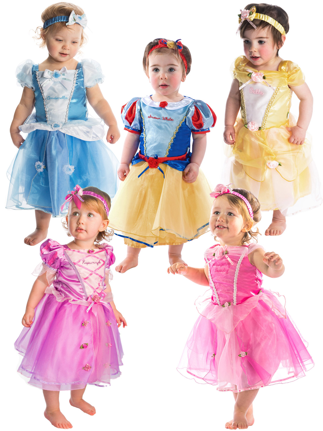 Details about Deluxe Disney Princess Costume Baby Toddler Girl Fancy Dress  Up Outfit Book Day