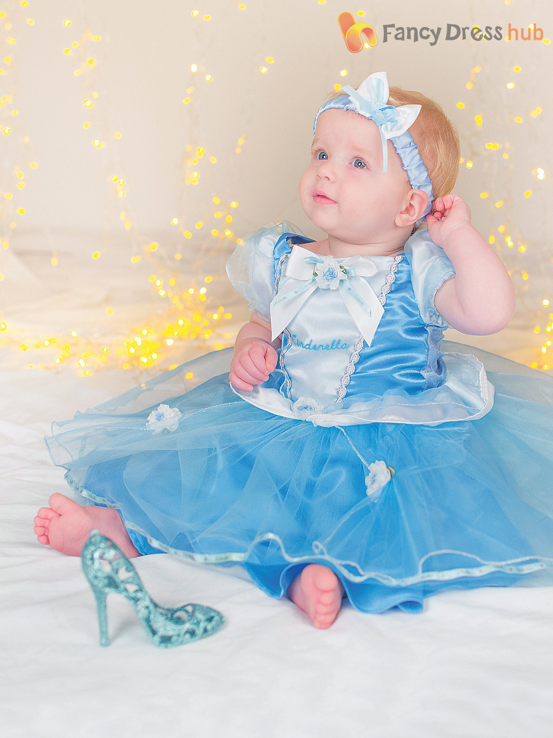 Image 3  sc 1 st  eBay & Baby Toddler Deluxe Disney Princess Costume Girl Fairytale Fancy ...
